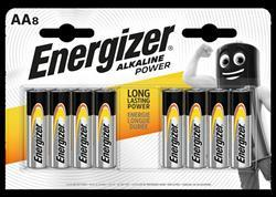 Energizer Alkaline Power Batteries AA Pack 8