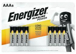 Energizer Alkaline Power Batteries AAA Pack 8