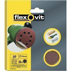 Flexovit Eccentric Discs - 6 Pack (125mm) 50g (Coarse)
