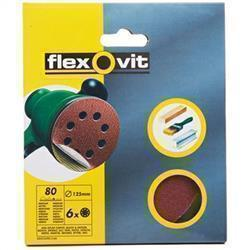 Flexovit Eccentric Discs - 6 Pack (125mm) 80g (Medium)