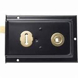 "Sterling Rim Lock Black 6"" x 4"""