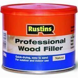 Rustins Professional Wood Filler 250g Natural