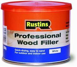 Rustins Professional Wood Filler 250g White
