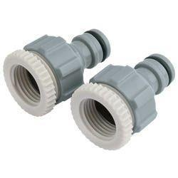 Draper Adjustable Base Tap Connector 2pk