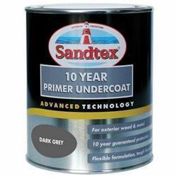 Sandtex 10 Year Primer Undercoat Dark Grey 750Ml
