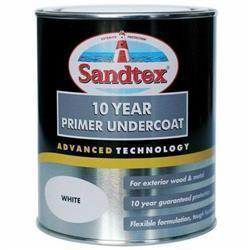 Sandtex 10 Year Primer Undercoat Pure Brilliant White 750ml