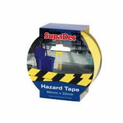 SupaDec Hazard Warning Tape 50mm x 33m Yellow/Black