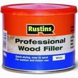 Rustins Professional Wood Filler White 500g