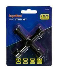 SupaTool 4 Way Utility Key