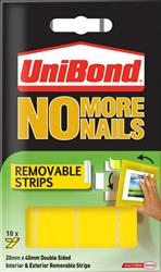 UniBond No More Nails Removeable strips Pack of 10
