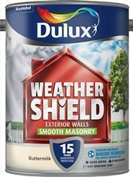 Dulux Weathershield Smooth Masonry Paint 5L Buttermilk