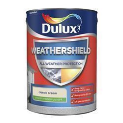 Dulux Weathershield Smooth Masonry Paint 5L Classic Cream