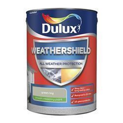 Dulux Weathershield Smooth Masonry Paint 5L Green Ivy