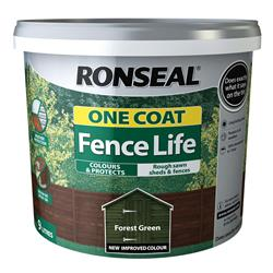 Ronseal One Coat Fence Life 12L Forest Green