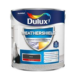 Dulux Weathershield Exterior High Gloss 2.5L Black
