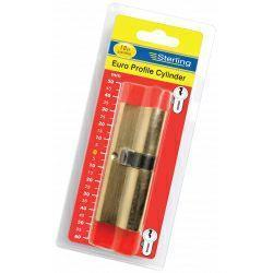 Sterling Europrofile Cylinder Brass Visipacked 40 x 45