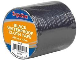 SupaDec Waterproof Cloth Tape 48mm x 4.5m Black