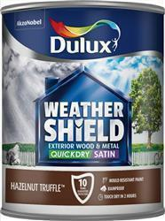 Dulux Weathershield Quick Dry Satin 750ml Hazelnut Truffle