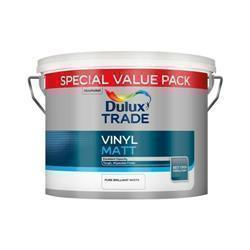Dulux Trade Vinyl Matt Brilliant White 7.5L