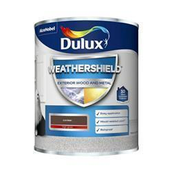 Dulux Weathershield Exterior Gloss 750ml Conker