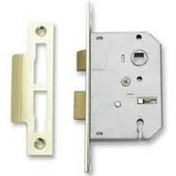 "Sterling 3 Lever Mortice Sash Lock 3"" Brass Plated"