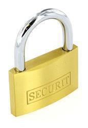 Securit Brass Padlock with 3 Keys 40mm S1155