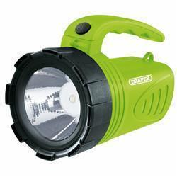 Draper 3W Li-Ion Hand Torch Green