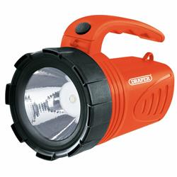Draper 3W Li-Ion Hand Torch Orange