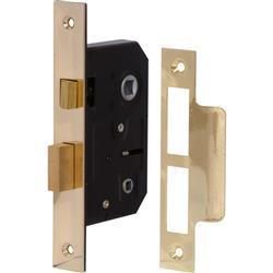 Sterling 75mm Bathroom Lock Brass Plated