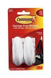Command Medium Oval Designer Hooks 17081