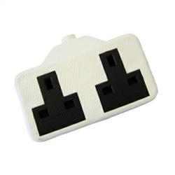 Dencon Rubber 2 Gang Extension Socket Pre-Packed