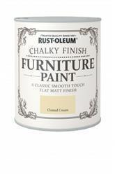 Rustoleum Chalky Finish Furniture Paint Clotted Cream 750ml