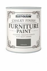 Rustoleum Chalky Finish Furniture Paint Anthracite 750ml
