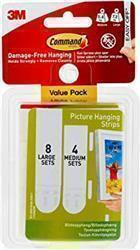 Command Picture Hanging Strips Medium/Large Value Pack 17209