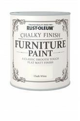 Rustoleum Chalky Finish Furniture Paint Chalk White 125ml