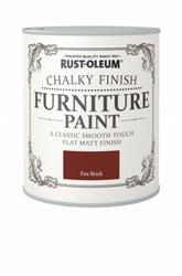 Rustoleum Chalky Finish Furniture Paint Fire Brick 125ml