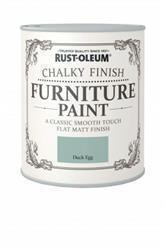 Rustoleum Chalky Finish Furniture Paint Duck Egg 125ml
