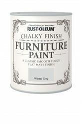 Rustoleum Chalky Finish Furniture Paint Winter Grey 125ml