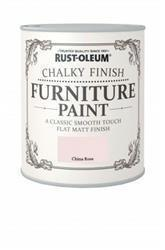 Rustoleum Chalky Finish Furniture Paint China Rose 750ml