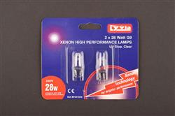 Lyvia Xenon High Performance Lamps G9 28W Twin