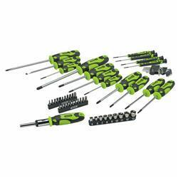 56 Piece Screwdriver Set Green With Storage Bag
