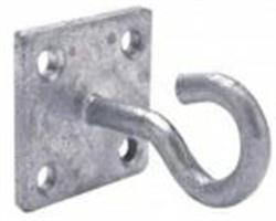 Chain Hook On Plate Galvanised (x1)