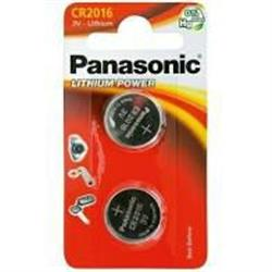 Panasonic CR2016 3v Lithium Battery 2pk