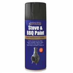 Rustoleum Stove and BBQ Paint Black Matt 400ml